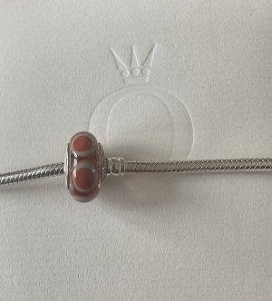 Pandora Pendant dark orange-white glas