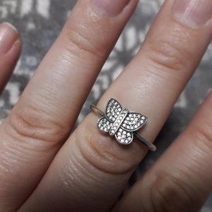 Pandora Zilveren ring zilver-wit