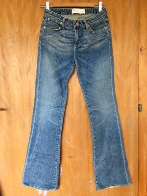 paper denim&cloth Jeans vita bassa blu scuro-blu acciaio Cotone