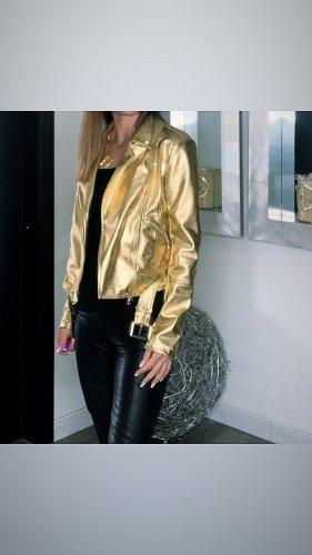 Patrizia Pepe Giacca da motociclista oro