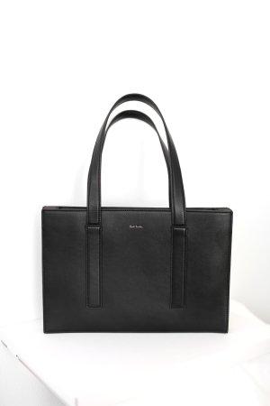 Original Paul Smith Tasche Ledertasche schwarz Leder Modell: 'Concertina'