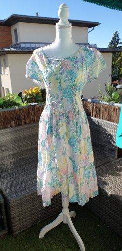 unknown Sukienka z halką Wielokolorowy Bawełna