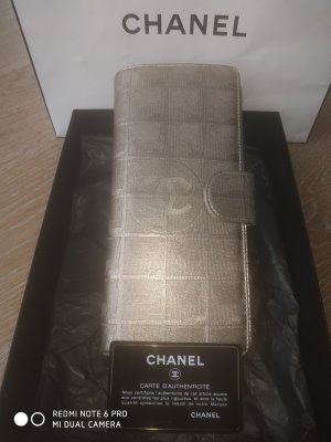 Chanel Wallet gold-colored leather