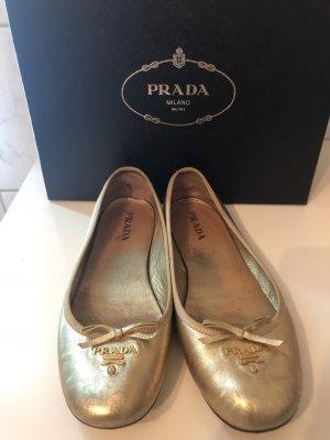 Original Prada Ballerinas Gold 36