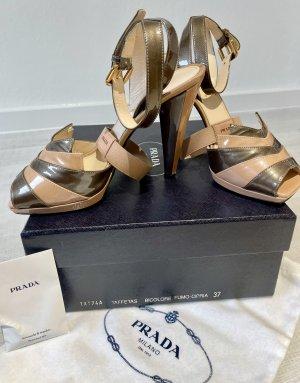 Original Prada High Heels Peeptoes 37 nude
