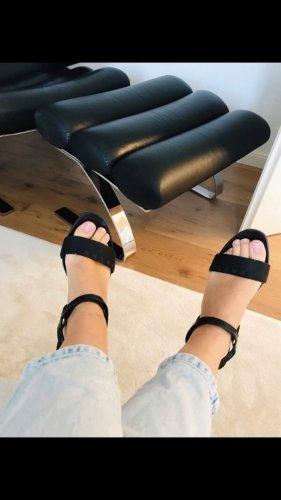 Prada Strapped Sandals black leather