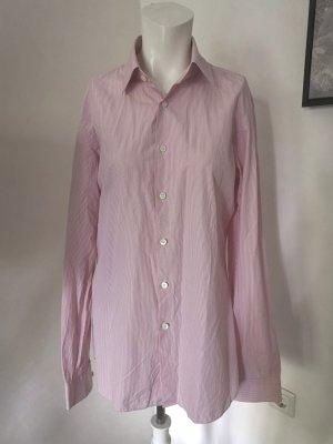 Prada Shirt met lange mouwen wit-lichtroze