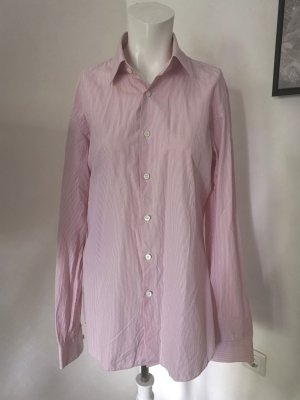Prada Camicia a maniche lunghe bianco-rosa chiaro