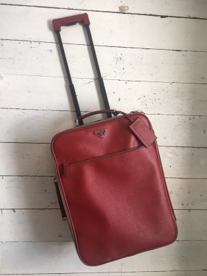 Prada Suitcase dark red leather