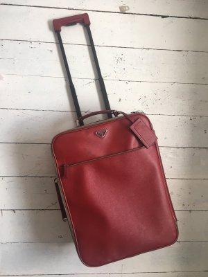 Prada Valise rouge foncé cuir