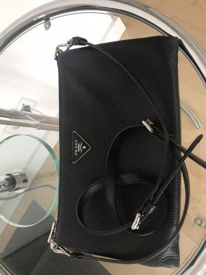 Original PRADA Leder Tasche Crossbody Clutch schwarz wie NEU