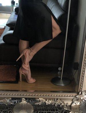 Prada Sandalias con plataforma rosa empolvado Cuero