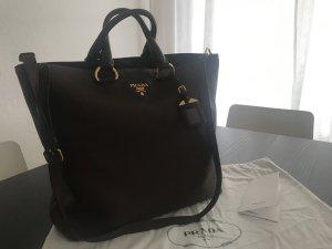 Original Prada Shopper/Handtasche Vitello Daino - dunkelbraun/gold - NEU unbenutzt