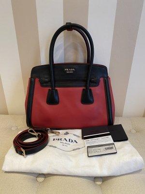 Original Prada Tasche in Rot-Schwarz