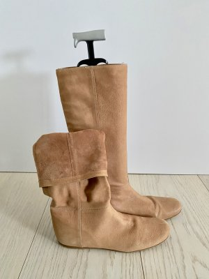 Prada Short Boots sand brown leather