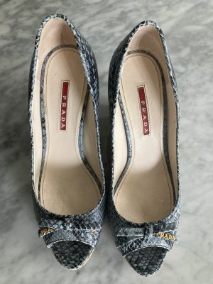 Original PRADA WEDGES GR. 38 blau