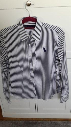 Original Ralph Lauren Sport Bluse Business  blau weiß streifen Gr. XL