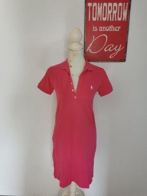 Original Ralph Lauren Sport Polokleid Baumwollpique Tenniskleid pink Größe S