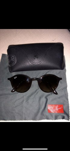 Ray Ban Okrągłe okulary przeciwsłoneczne brązowy-czarny