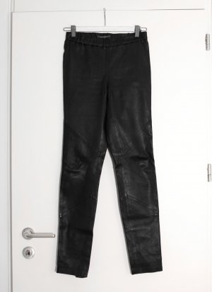 René Lezard Leather Trousers black leather
