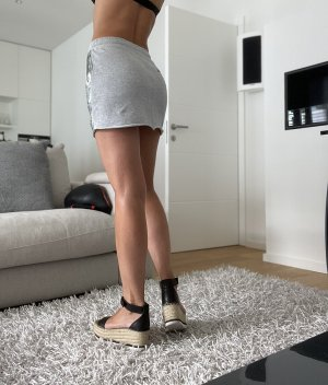 Replay Miniskirt light grey-silver-colored