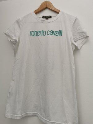Roberto Cavalli T-Shirt white-turquoise