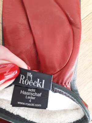 "original ""ROECKL Handschuhe"" für Kinder - echt Haarschaf Leder, Gr. 4 / NEU !!!"