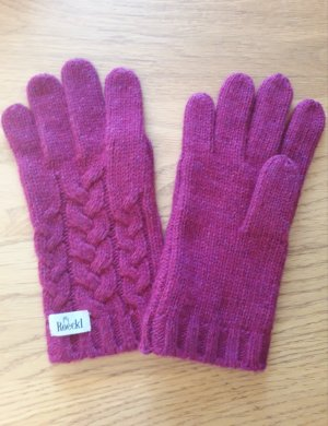 Roeckl Knitted Gloves multicolored angora wool