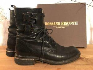 Rossano Bisconti Bottes à lacets noir cuir