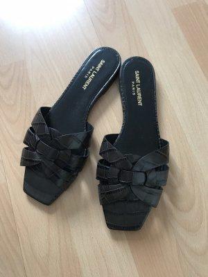 Saint Laurent Strapped Sandals dark brown