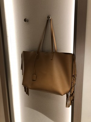 Saint Laurent Shopper brun cuir