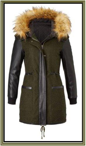 LTB Manteau à capuche multicolore tissu mixte