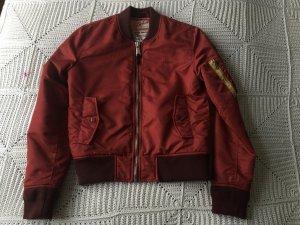 Schott Blouson aviateur rouge foncé tissu mixte