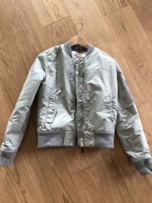 Schott Bomber Jacket light grey-silver-colored