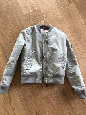 Schott Bomber Jacket light grey-silver-colored
