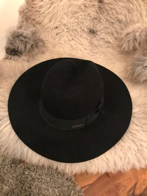Seeberger Woolen Hat black wool