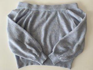 Selected Femme Sweter z dzianiny błękitny