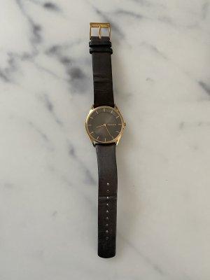 Original Skagen-Uhr mit hochwertigem Lederband in wunderschönem braun