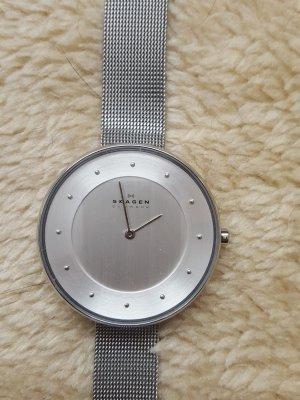 Skagen Reloj con pulsera metálica blanco-color plata