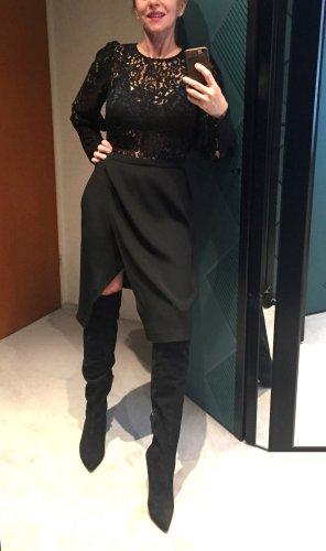 Sonia Rykiel Wraparound Skirt black acetate