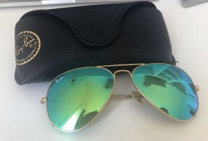 Original Sonnenbrille Ray Ban Aviator - grünem Glas
