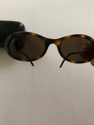 Chanel Oval Sunglasses dark brown