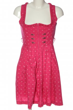 Original Steindl Dirndl pink-weiß abstraktes Muster Elegant