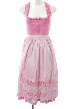 Original Steindl Dirndl pink Punktemuster extravaganter Stil