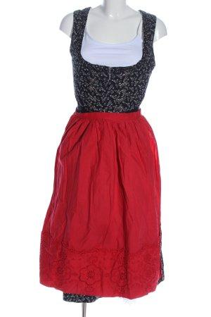 Original Steindl Vestido Dirndl negro-rojo estilo clásico