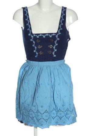 Original Steindl Dirndl niebieski Wzór w kwiaty Elegancki