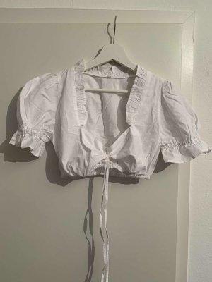 Original Steindl Blusa tradizionale bianco Cotone