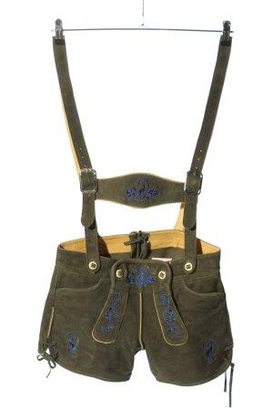 Original Steindl Pantalone in pelle tradizionale cachi-blu stile casual