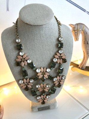 Original Stella & Dot Fleurette Halskette, neu, Steine