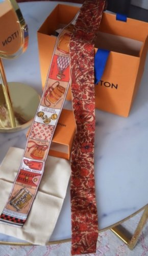 Louis Vuitton Summer Scarf red-dark orange